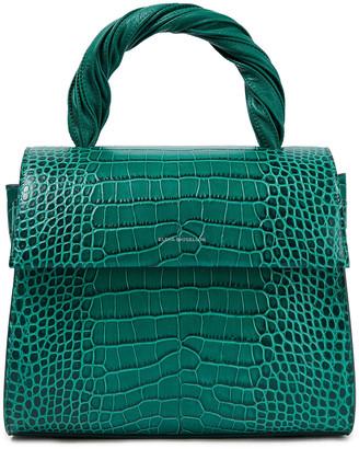 Elena Ghisellini Angel Baby Croc-effect Leather Tote