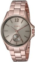 DKNY Women's Quartz Stainless Steel Casual Watch, Color:Rose Gold-Toned (Model: NY2518)