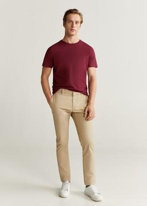 MANGO MAN - Essential cotton-blend T-shirt white - S - Men