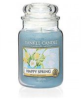 Yankee Candle Happy Spring Jar Candle, Blue, Large