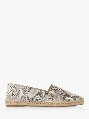 Bertie Greet Reptile Print Espadrille Loafers, Multi