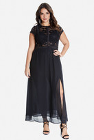 Fashion to Figure Mallie Lace Chiffon Maxi Dress