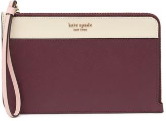 Kate Spade leather cameron medium l-zip wristlet