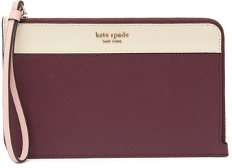Kate Spade Leather Cameron Medium L-Zip Wristlet