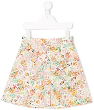 Bonpoint Floral Panelled Skirt
