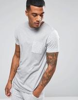 Asos Loungewear T-shirt With Brush Print