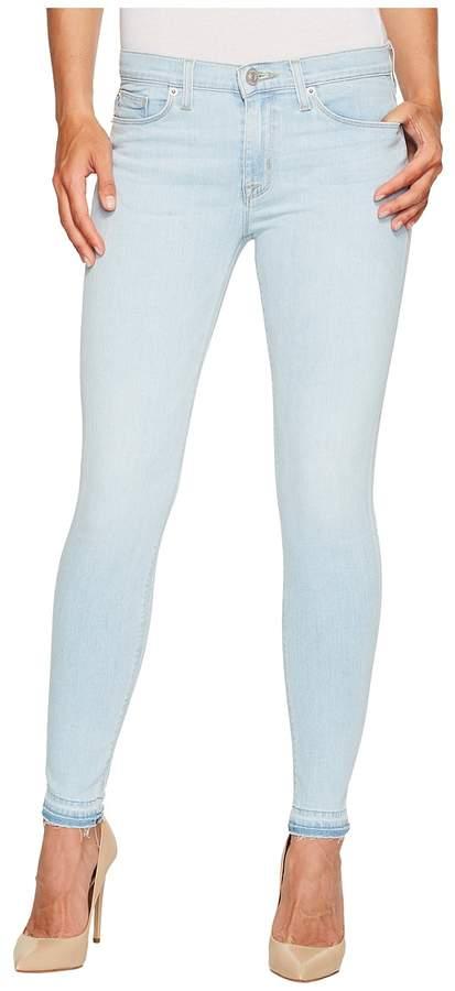 Hudson Nico Mid-Rise Ankle Super Skinny w/ Released Hem Five-Pocket Jeans in Bliss Women's Jeans