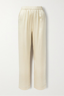Co Silk-satin Straight-leg Pants - Ivory