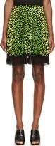 Christopher Kane Green & Black Animal Spot Skirt