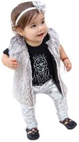 BUYEONLINE Baby Leggings Faux Leather Gilding Party Dance Pants