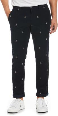 Original Penguin Embroidered Penguin Corduroy Pants