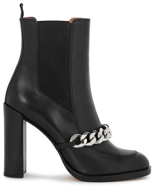 Givenchy Black Embellished Leather Boots