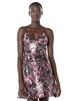 Laundry by Shelli Segal Women's V Neck Jacquard Fit and Flare Dress
