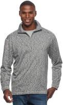 Haggar Men's Regular-Fit Marled Easy-Care Quarter-Zip Pullover