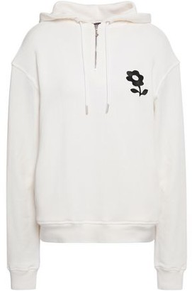 ALEXACHUNG Embroidered French Cotton-terry Hoodie