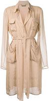 Diane von Furstenberg belted pyjama coat - women - Silk - 12