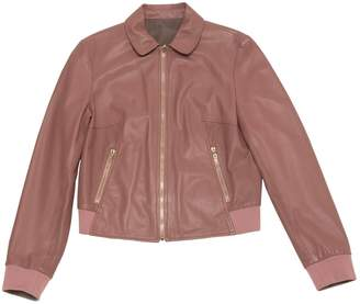 Bally Pink Leather Jacket for Women