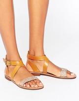 Dune Littas Glitter Flat Sandals