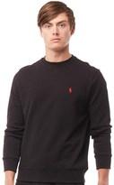 Polo Ralph Lauren Mens Fleece Sweatshirt Polo Black