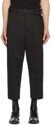 Haider Ackermann Black Workwear Trousers
