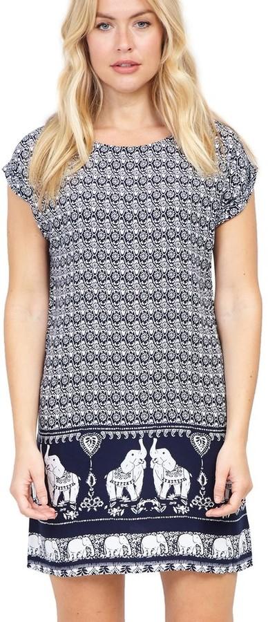 M&Co Izabel elephant print shift dress