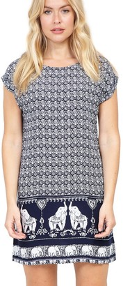 M&Co Izabel elephant print shift dress