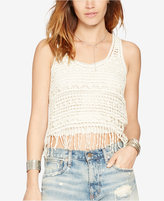 Denim & Supply Ralph Lauren Fringe Crochet Tank Top