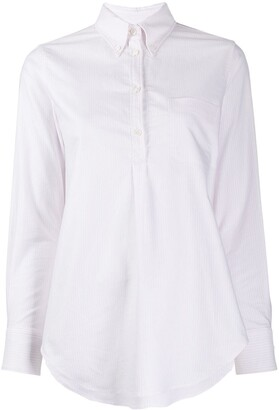 Thom Browne Pleated Back Button Down Shirt