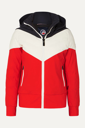 Fusalp - Lia Hooded Color-block Quilted Padded Ski Jacket - Red