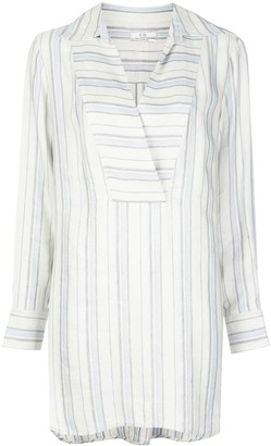 Co Stripe Print Shirt