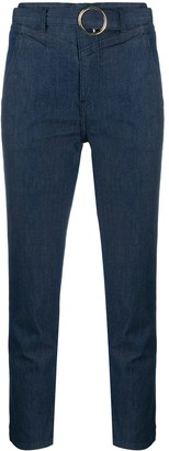 Liu Jo Belted Cropped Jeans