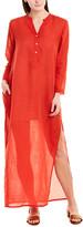 Ro's Garden Linen-Blend Maxi Dress