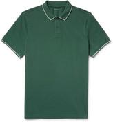 Club Monaco Contrast-Tipped Cotton-Piqué Polo Shirt