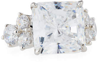 FANTASIA Cushion-Cut CZ Crystal Cocktail Ring, Size 7