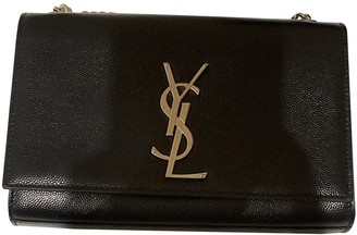 Saint Laurent Kate monogramme Black Leather Handbags