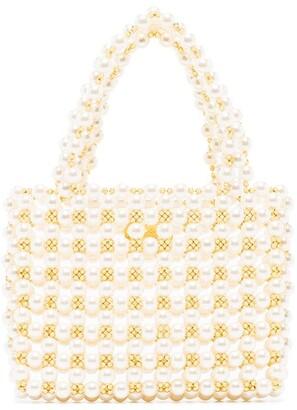 VANINA Pearl Mist embellished tote bag
