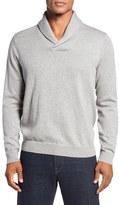 Nordstrom Cotton & Cashmere Shawl Collar Sweater (Regular & Tall)