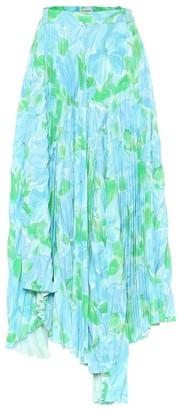 Balenciaga Dynasty floral crApe midi skirt