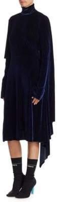 Vetements Velvet Asymmetric Dress