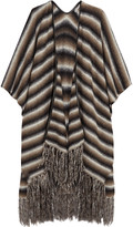 Tart Collections Fringed striped knitted wrap