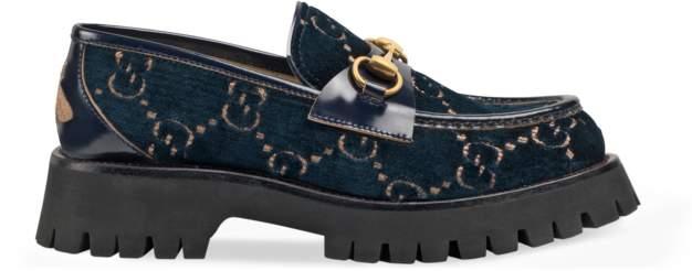 c944550d15 GG velvet lug sole loafer