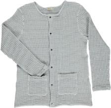 Poudre Organic - Manioc Cotton Honeycomb Cardigan in Glacier Gray - Size S