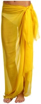 UGG Frayed Solid Cashmere Blend Pareo Wrap (Lemon) - Accessories