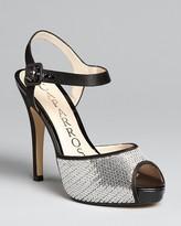 Caparros Peep Toe Platform Evening Sandals - Destiny