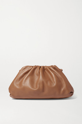 Bottega Veneta The Pouch Small Gathered Leather Clutch - Camel