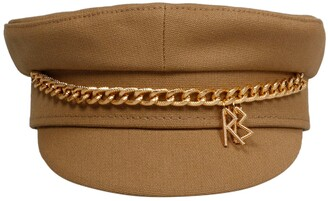 Ruslan Baginskiy Chain Embellished Baker Boy Hat