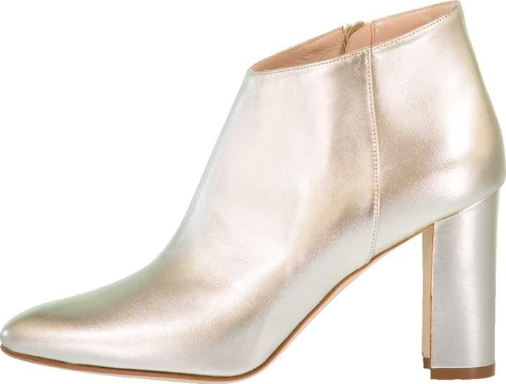 Manolo Blahnik Brusta Metallic Pointed Toe Bootie