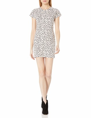 Monrow Women's Cap Sleeve Fitted Above The Knee Dress