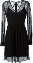 McQ by Alexander McQueen sheer leaf lace dress