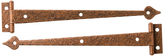 Rejuvenation Pair of Copper Plated McKinney Strap Hinges